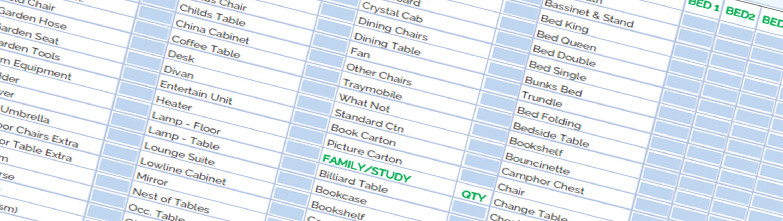 Inventory List + Sunshine Coast Removals